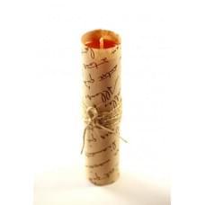 Свеча ручной работы оранжевая M