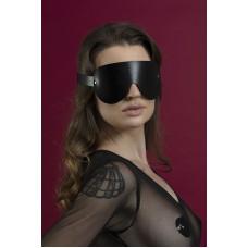 Маска кожаная закрытая Feral Feelings - Blindfold Mask Черная