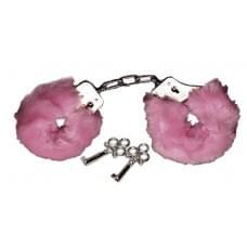 Наручники с розовым мехом