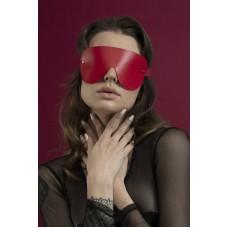 """Шкіряна Маска закрита Feral Feelings - з зав""""язаними очима Mask червона"""