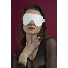 """Шкіряна Маска закрита Feral Feelings - з зав""""язаними очима Mask біла"""