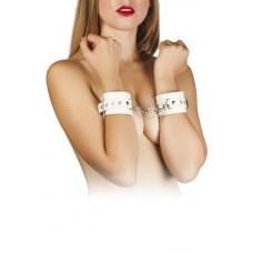 Наручники Leather Restraints Hand Cuffs, WHITE