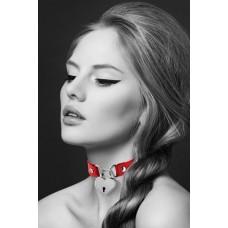Чокер Bijoux Pour Toi HEART LOCK красный