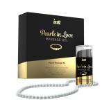 Набор для жемчужного массажа Intt Pearls in Love: ожерелье и силиконовый массажный гель 15 мл