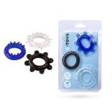 Эрекционные кольца - A-TOYS 769003 Cockrings set, 3 pcs.Mix color