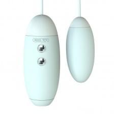 Вакуумный стимулятор с виброяйцом 2-в-1 KissToy Miss VV Голубой